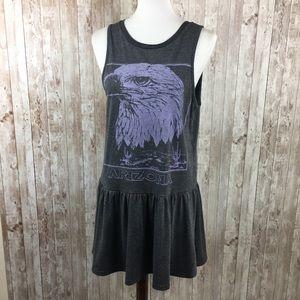 MINKPINK Gray Arizona Eagle Graphic Tank Dress
